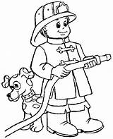 Fireman Coloring Pages Printable Fire Fighter Firefighter Coloriage Les sketch template