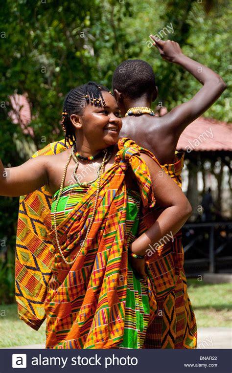 Africa, Ghana, Accra. La Palm Beach Hotel. Traditional ...