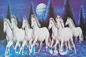 Seven White Running Horses Wallpaper | www.imgkid.com ...
