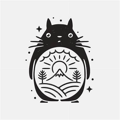 Totoro Ghibli Tattoo Drawing Studio Liam Illustration