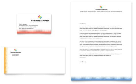 business card size template pdf commercial printer business card letterhead template