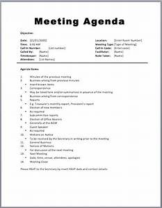 Basic Meeting Agenda Template | Printable Meeting Agenda ...