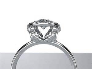 owl wedding ring owl halo engagement ring 14k white gold