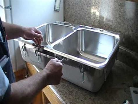 how to install stainless steel kitchen sink installing a steel stainless steel kitchen sink 9455