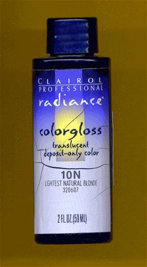 clairol radiance color gloss clairol radiance colorgloss translucent deposit only color