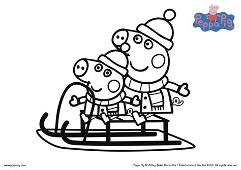 Peppa Pig Christmas Coloring Pages Collection Free