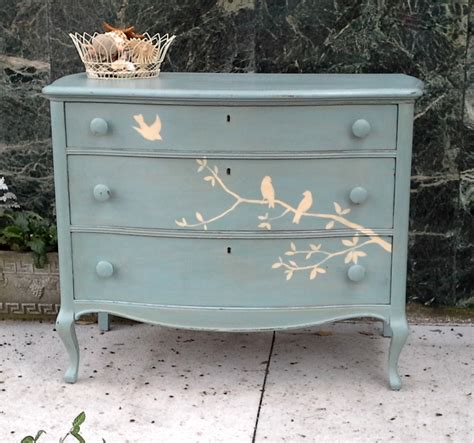 painting wooden furniture shabby chic furnitologist beautiful solid wood hand painted dresser with birds cottage shabby chic inspired