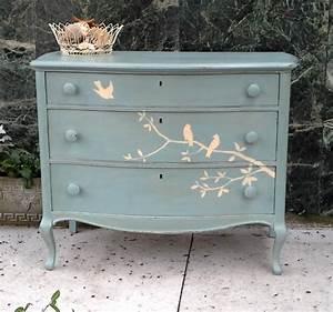 Shabby Chic Dresser : furnitologist beautiful solid wood hand painted dresser with birds cottage shabby chic inspired ~ Sanjose-hotels-ca.com Haus und Dekorationen