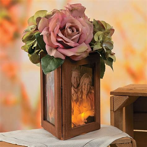 picture frames for wedding tables wood frame centerpiece idea orientaltrading com