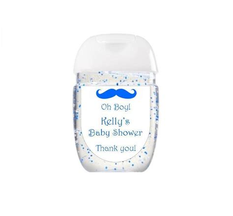 Baby Shower Hand Sanitizer Labels  Oh Boy Mustache