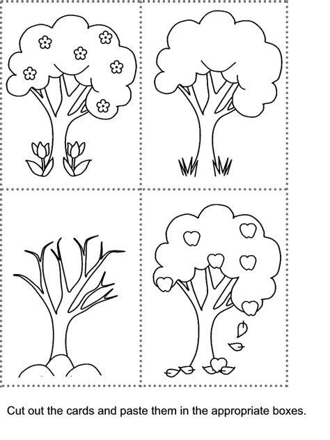 kidzone cut and paste worksheets 679 | cutpaste seasons1