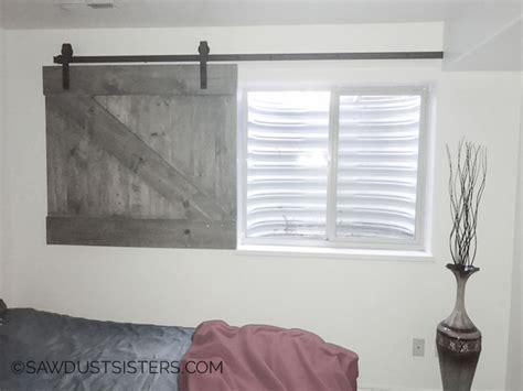 Barn Door Window by Diy Barn Door Style Window Covering Sawdust
