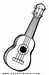 Coloring Pages Guitar Guitars Colouring Sheets Stencil Drawing Colour Playing Afkomstig Van sketch template