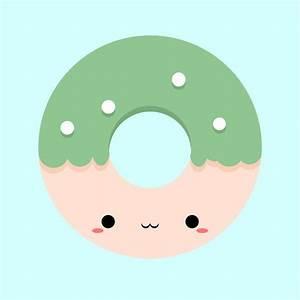 Kawaii donut by ReyoKPoe (print image)   clip art ...