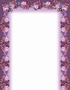 Purple Flower Borders and Frames | music printable flower ...