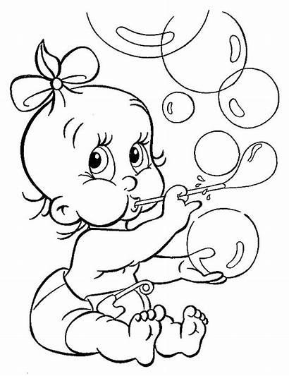 Coloring Pages Toddler Sheet Bebe Sister Kleurplaat