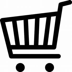 Shopping cart black silhouette Icons | Free Download