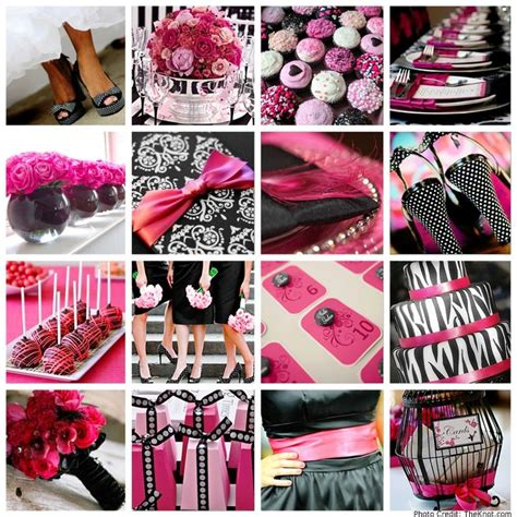 theme pink black pretty weddings
