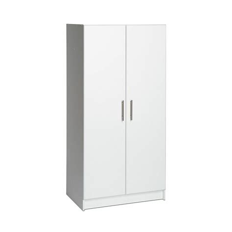 White Storage Closet Wardrobe by 65 Quot Wardrobe Large Armoire Cabinet Garage Organizer White