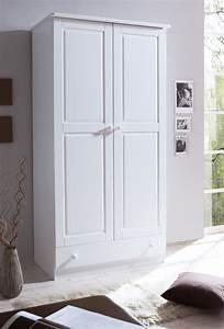 Kleiderschrank 2 Türig Weiß : kleiderschrank 2 t rig weiss h c m bel ~ Indierocktalk.com Haus und Dekorationen