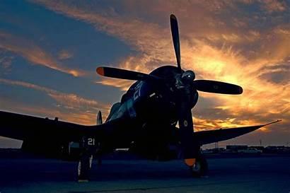 Corsair F4u Airplane Wallpapers Plane Sunset Wings