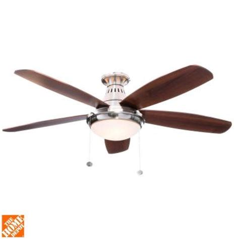 Home Depot Flush Mount Ceiling Fan by Hton Bay Burgess 52 In Flush Mount Brushed Nickel