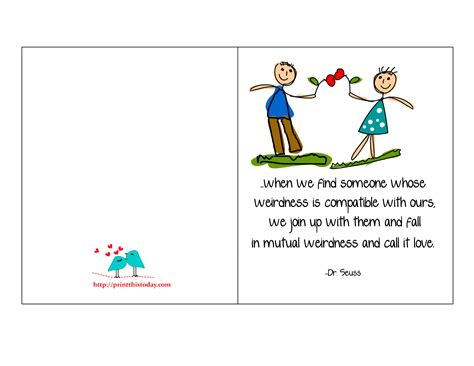 printable love cards  cute romantic  thoughtful quotes