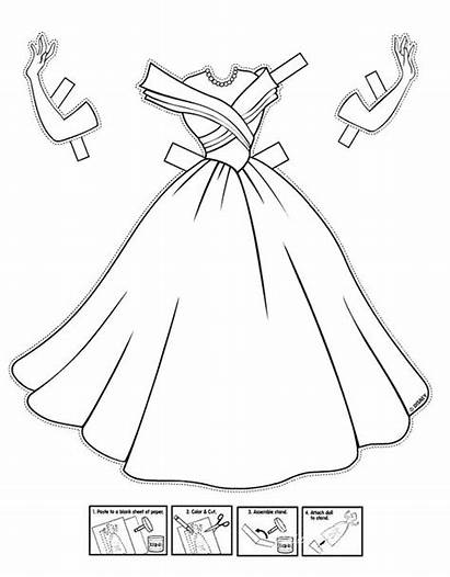 Paper Coloring Cinderella Pages Dolls Doll Interactive