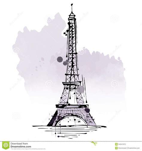 France Eiffel Tower Sketch Wwwimgkidcom The Image