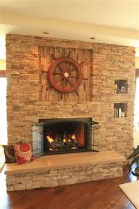 Travertine Fireplace - Traditional - Living Room - Los