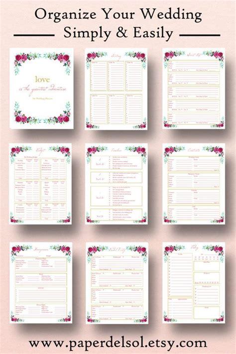 wedding planner printable wedding planner book binder