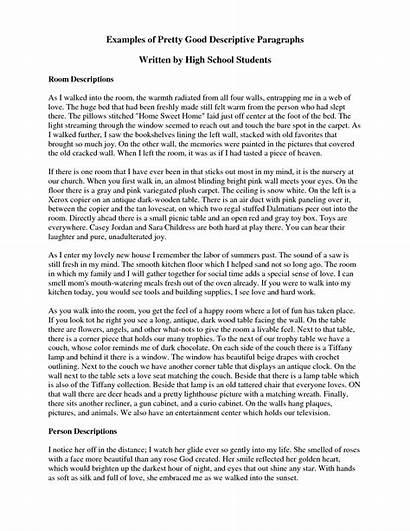 Paragraph Descriptive Essay Example Examples Place Sample