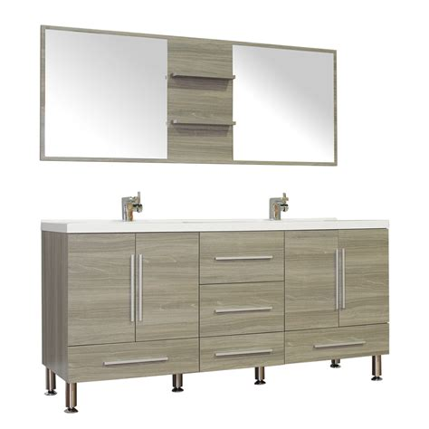 alya bath     double modern bathroom vanity gray