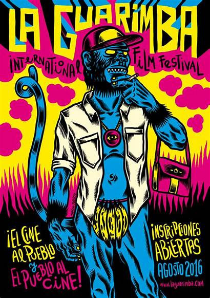 Monkey Illustrated Posters Artists Incredible Festival Film