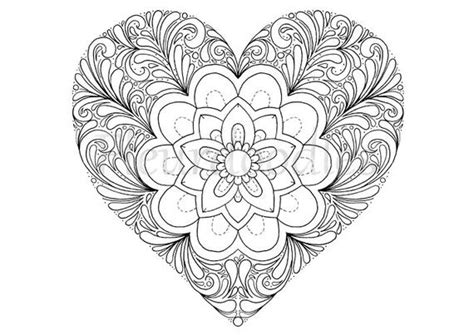 Coloring Page Heart Printable Download Love By Fleurdoodles