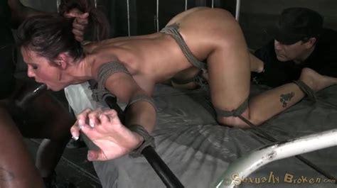 Great Rope Bondage Of A Spit Roasted Girl Bdsm Porn