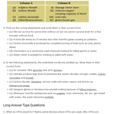 Important Questions For Class 8 Science Chapter 18