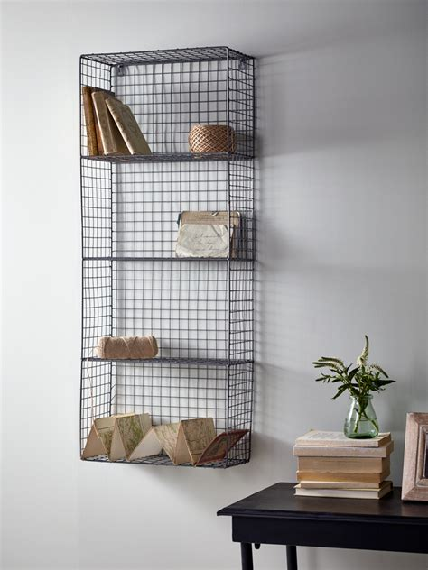 wire wall rack large industrial house vintage