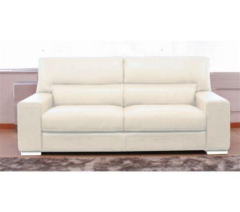 promotions canapé canapé 3 places smerlado cuir massif blanc prix promo