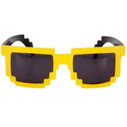 8-Bit Pixel Glasses: Yellow