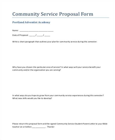 Sample Service Proposal Forms  8+ Free Documents In Word, Pdf