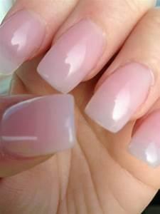 natural color acrylic nails