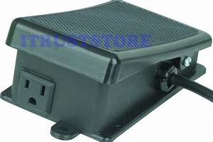 On  Off Foot Pedal Control Controlled Electric Power Tool