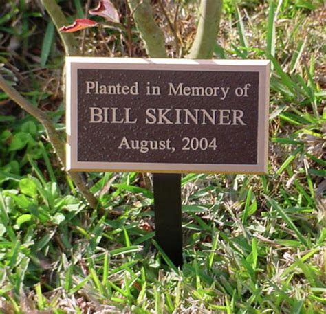 personalized outdoor memorial plaques for garden or
