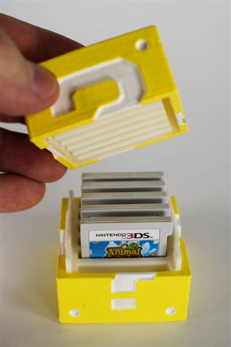 diy   printed mario question block nintendo ds game