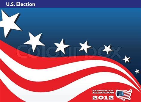 presidential election poster stock vector colourbox