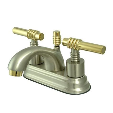 Polished Brass Bathroom Faucets Centerset by Shop Elements Of Design Satin Nickel Polished Brass 2