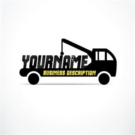 exclusive design buy towing truck logo  business card