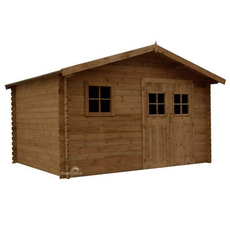 abri de jardin traite abri de jardin en bois trait 233 marron surface 9 8 m2 aloha madeira bricozor