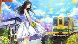 4540750, Hat, Flower, Petals, Anime, Anime, Girls, Original, Characters, Dress, Wallpaper